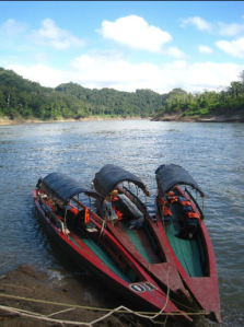 Three boats sit docked on the shores of the Usumacinta River, one of the centers of the pre-Colombian Maya civilization. Serving as a border between the Yucatán penincula, the Mexican state of Chiapas and the country of Guatemala, it remains an important artery of transportation in the region.